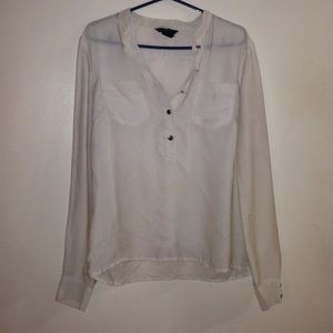 H&M off white blouse size 6