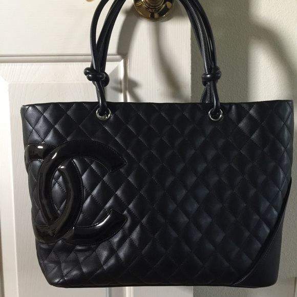 e9459ed19576 CHANEL Handbags - Authentic Chanel Quilted Jumbo Cambon Black Tote