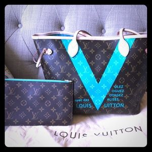 LV NEVERFULL MM V - 2015 limited edition