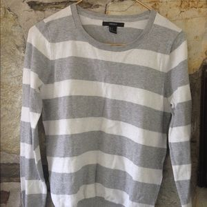 NWT Forever21 striped grey and white sweater sz s