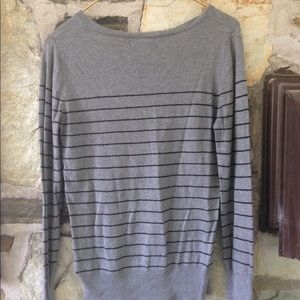 Mossimo Supply Co. Sweaters - Mossimo Target striped v neck sweater sz medium