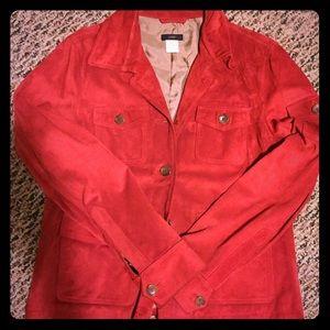 J.Crew red suede jacket