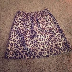 BR Leopard/Cheetah Print Skirt