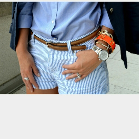 64% off H&M Denim - H&m blue and white striped shorts from ...