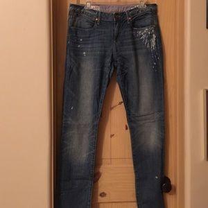 Gap 1969 painted jeans