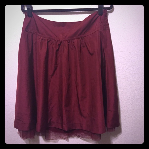 44 the limited dresses skirts maroon a line skirt