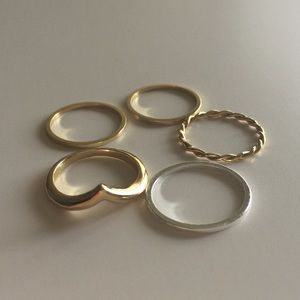 Gold + Silver Ring Set