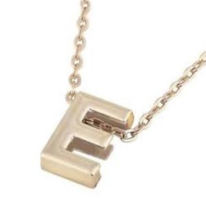 E Initial Gold Necklace