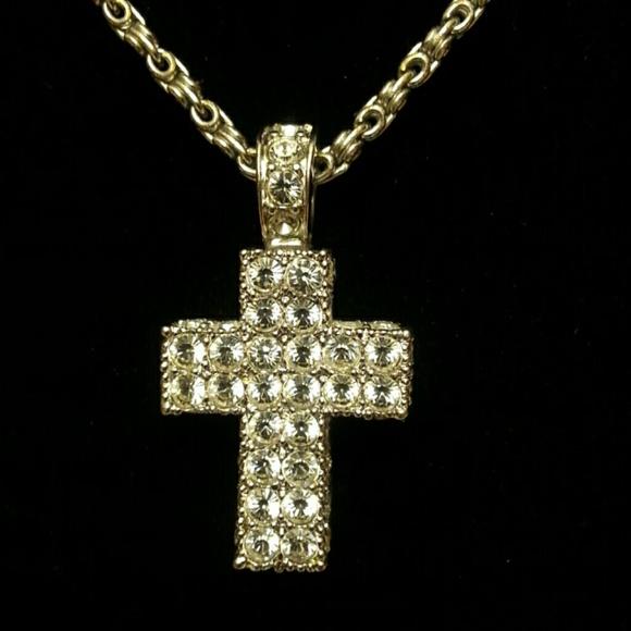 Swarovski jewelry crystal pave cross pendant necklace poshmark swarovski crystal pave cross pendant necklace aloadofball Choice Image