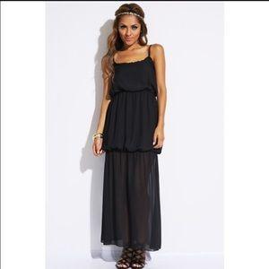 Classic Long Drape Dress