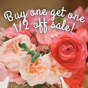 Buy one get one half off sale