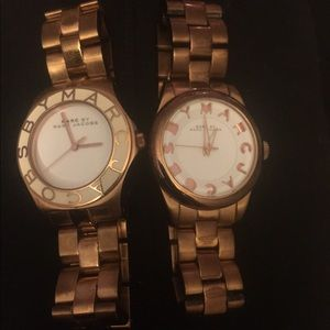 2 Marc by Marc Jacobs rose gold and white watches