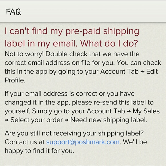 Other | How To Reprint Shipping Label | Poshmark