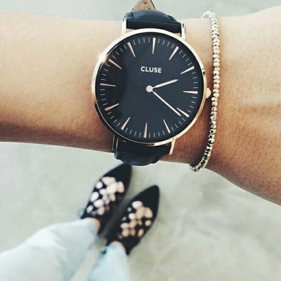 cluse accessories menswear inspired rose gold watch poshmark. Black Bedroom Furniture Sets. Home Design Ideas