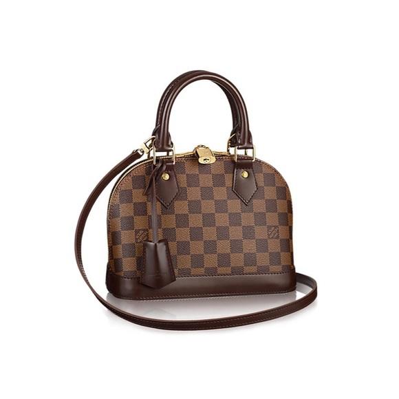 4a74253766a 💯 Authentic Louis Vuitton Alma BB Damier Ebene