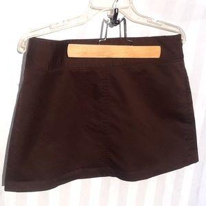 Old Navy Brown Mini skirt. Side zip size 8