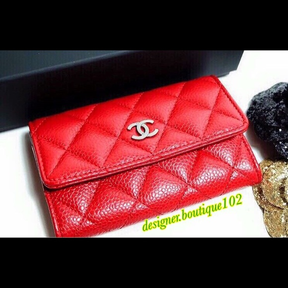 791d2a8f8cd9 CHANEL Accessories | Sold Card Holder In Red | Poshmark