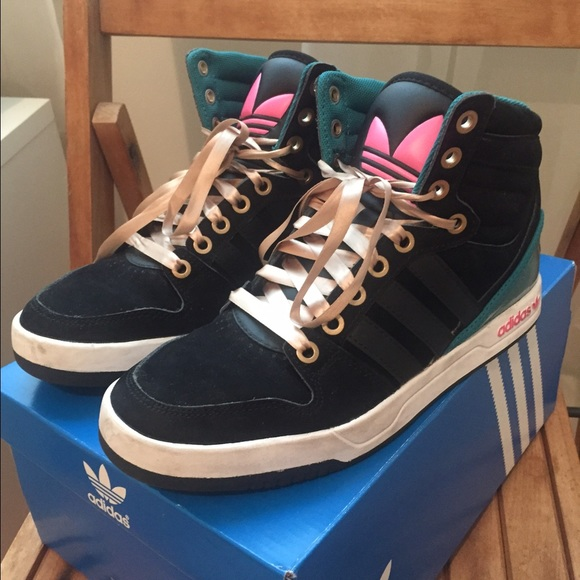pretty nice 6a98e b9727 Adidas Shoes - Adidas court attitude high top sneakers