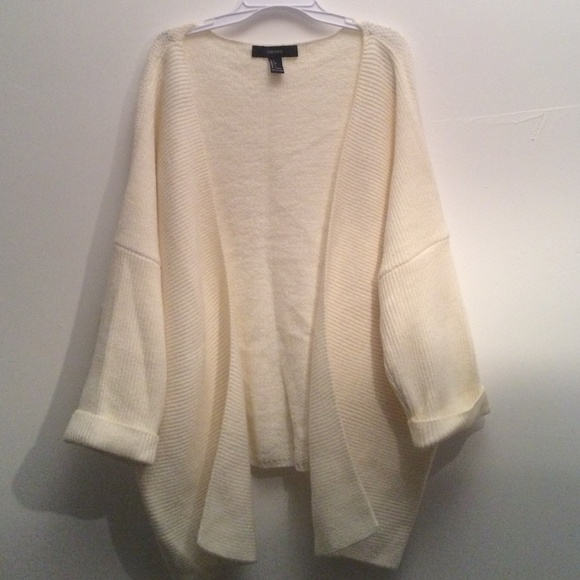 43% off Brandy Melville Sweaters - F21 Oversized Cream Cardigan ...