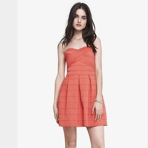 49781505fcad Express Dresses | Bandage Fit And Flare Dress | Poshmark