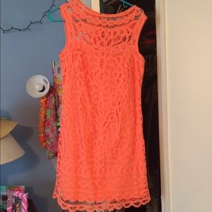 Lilly Pulitzer coral dress