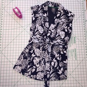 Vince Camuto Print Vest Belted new size M NEW