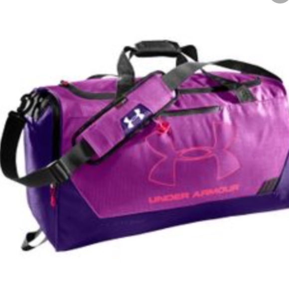 5d353f8950f Purple Under Armour Storm Duffle Gym Bag BRAND NEW.  M 55f2d7967e7ef6ca5700393a