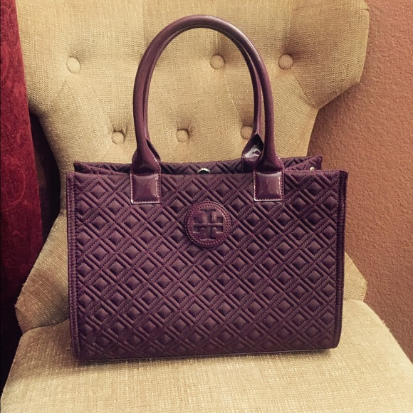 5a89dd201 Tory Burch Mini Ella Quilted Tote - deep purple. M_55f2e6ba729a660e91003cf1