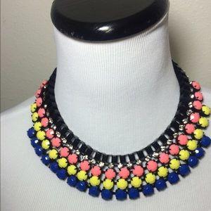 Multicolored Chain Rhinestone Necklace