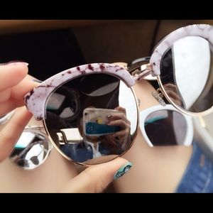 Accessories - Brand New marble frame sunglasses.