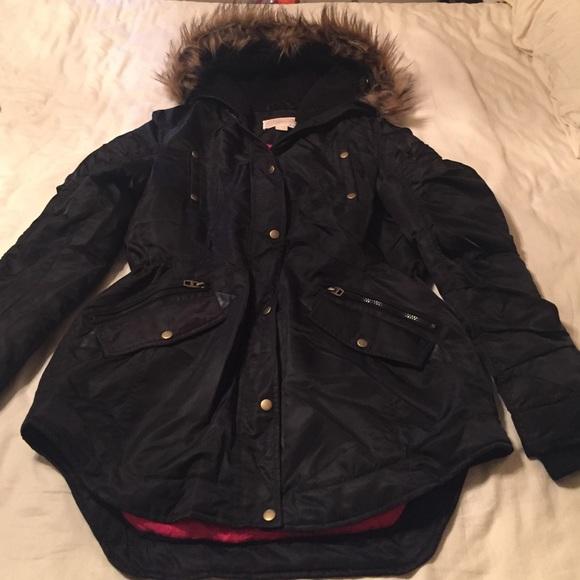 66 off michael kors jackets blazers michael kors faux fur hooded winter coat from denise 39 s. Black Bedroom Furniture Sets. Home Design Ideas