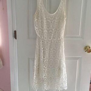 LC white lace dress