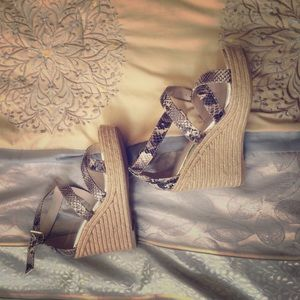 Snake/Alligator skin wedges