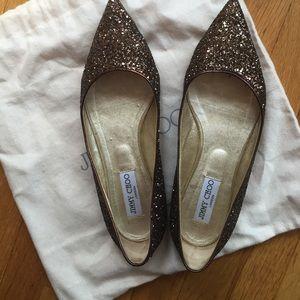 58c9ac5a889b Jimmy Choo Shoes - JIMMY CHOO GLITTER FLATS SIZE 39