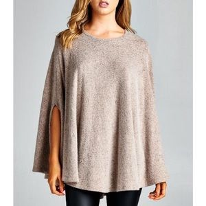 """Beyond the Stars"" Loose Cape Poncho Top"
