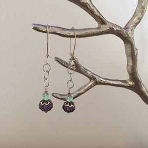 Pretty Turquoise & Purple earrings