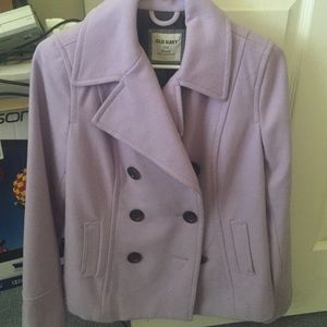 Purple pea coat from old navy!