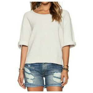 Free People Rising Sun Pullover in Oatmeal