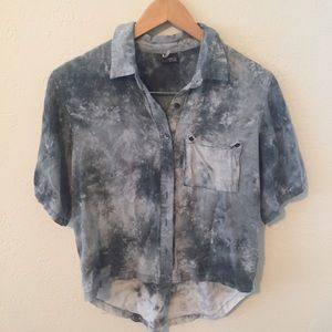 sparkle & fade (urban outfitters) button up shirt
