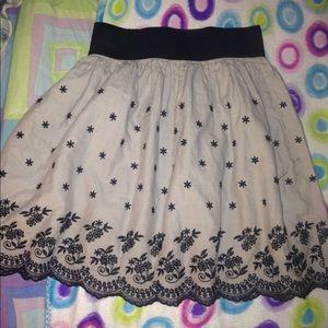 Black & grey flowered skirt