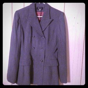 I N C gray  button up blazer