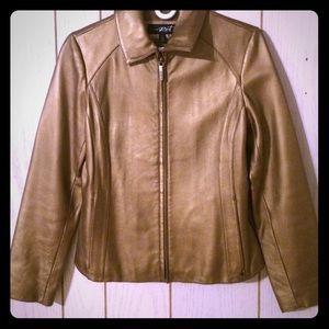 Black rivet  Jackets & Blazers - Gold leather jacket