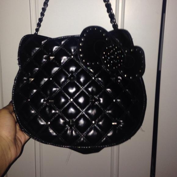 ca71e7cca Hello Kitty Bags | Black Studded Handbag | Poshmark