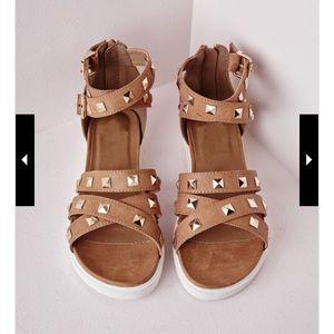 Shoes - Stud Crossover Sandal