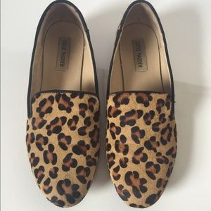  Steve Madden Leopard Cheetah Hair Flats slip on