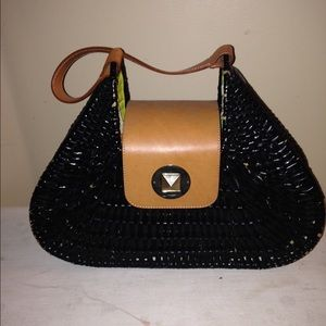 kate spade wicker handbag on Poshmark