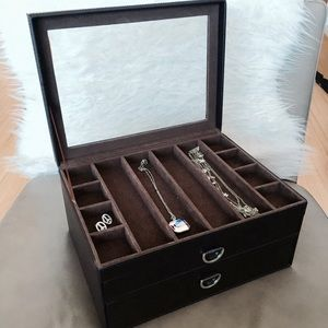 Container Store Other - Brown leather jewelry box