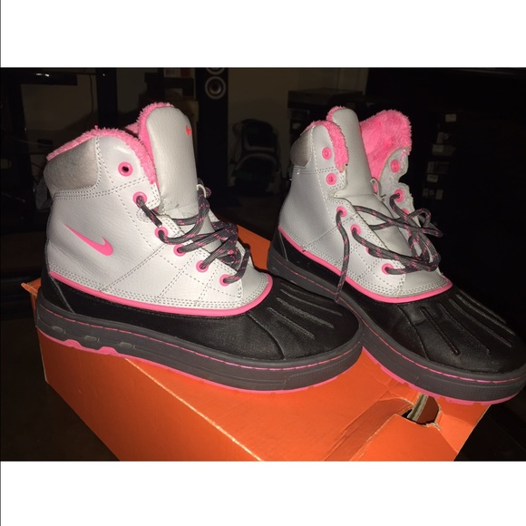 light pink acg boots