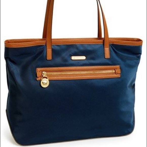 30% off Michael Kors Handbags - Michael Kors Navy Blue Canvas Tote ...