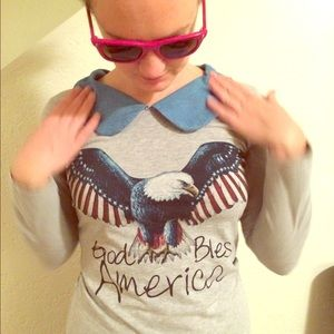 Tops - 'Merica long-sleeved boutique shirt